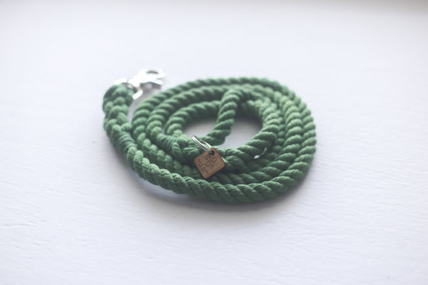 Kai's Ruff Wear Green Rope Dog Leash - Kanine Capital Online Farmer's Market for Dogs