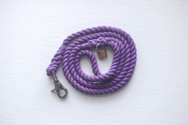 Kai's Ruff Wear Purple Rope Dog Leash