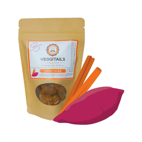 Veggitails Sweet bark Soft Treats – Cinnamon Sweet Potato Dog Treats - Kanine Capital Online Farmer's Market for Dogs