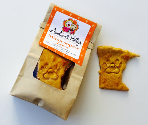 Amelia and Holly's Minnesopaw Love Dog Treats - Kanine Capital Online Farmer's Market for Dogs