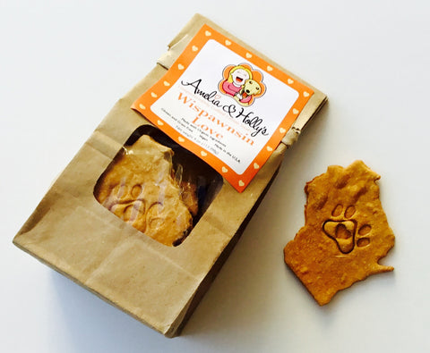 Amelia and Holly's Wispawnsin Love Dog Treats - Kanine Capital Online Farmer's Market for Dogs