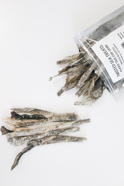 Twisted Sea Treats Alaskan Cod Skin Dog Treats - Kanine Capital