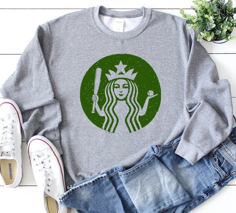 Starbucks Baseball Sweatshirt