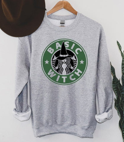 Basic Witch Coffee Sweatshirt