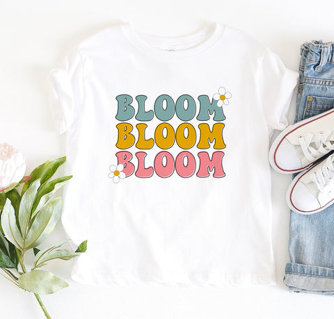 Bloom Flowers Kids Tee/Bodysuit