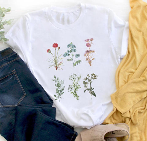 Colorful Flowers Tee