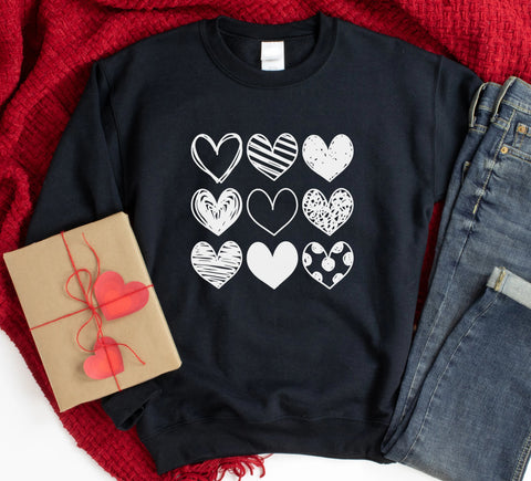 9 Hearts Sweatshirt