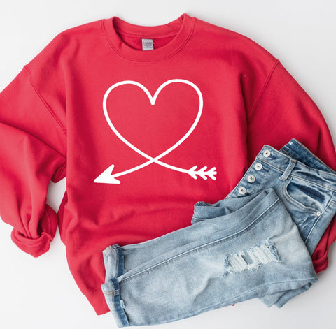 Heart Arrow Sweatshirt