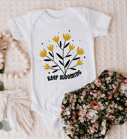 Keep Blooming Kids Tee/Bodysuit