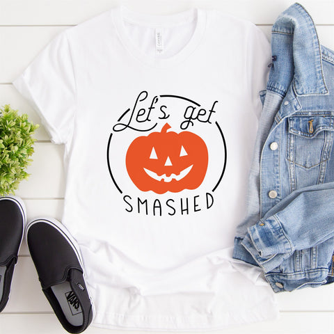 Lets Get Smashed Pumpkin Tee