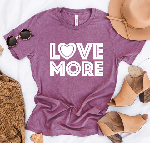 Love More White Print Tee