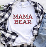 Mama Bear Plaid Tee