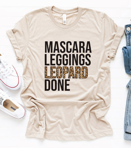 Mascara Leggings Leopard Tee