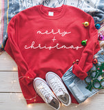 Merry + Christmas Sweatshirt