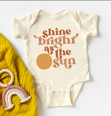 Shine Bright As The Sun Kids Tee/Bodysuit