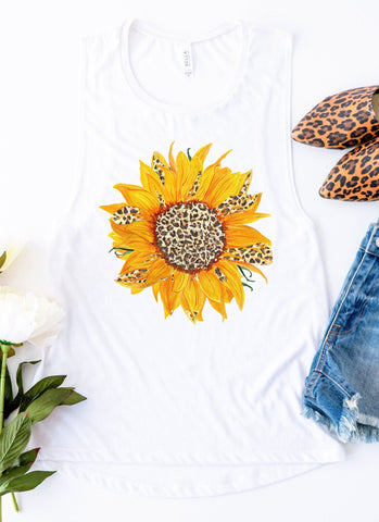 Leopard Sunflower Tank