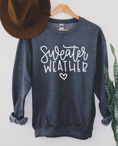 Sweater Weather Heart Sweatshirt
