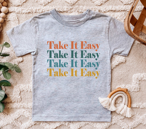 Take It Easy Colorful Kids Tee/Bodysuit