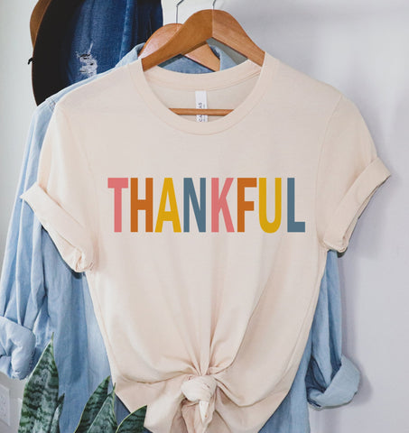Thankful Colorful Tee