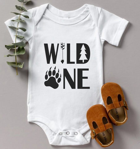 Wild One Paw Kids Tee/Bodysuit