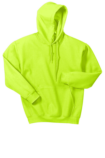 Safety green pullover hooded sweatshirt