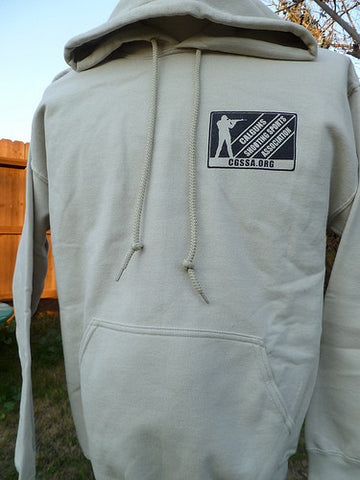 Sweatshirt, hooded, Sand CGSSA logo