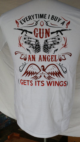 Short Sleeve, white, Angel