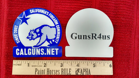 Calguns.net logo sticker