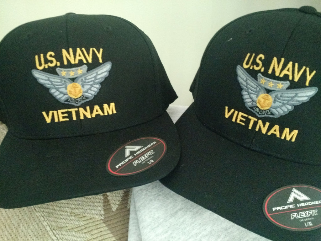 U.S. NAVY Combat Aircrew Wings hat, Vietnam, black