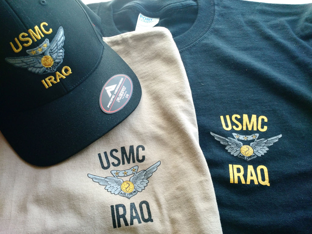 Combat Air Crew Wings Iraq t shirt