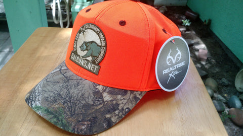 Blaze Orange Cap with Camo Brim C804