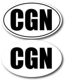 CGN oval stickers