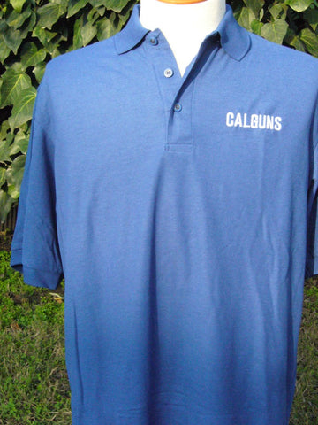 Men, royal blue polo