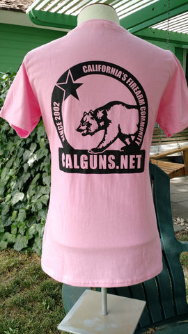 Ladies Ring Spun Cotton Short Sleeve T-shirt (candy pink)