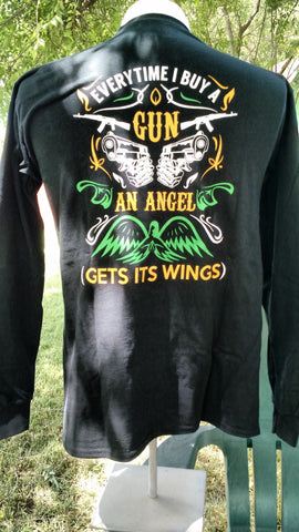 Long sleeve, black, Angel T shirt