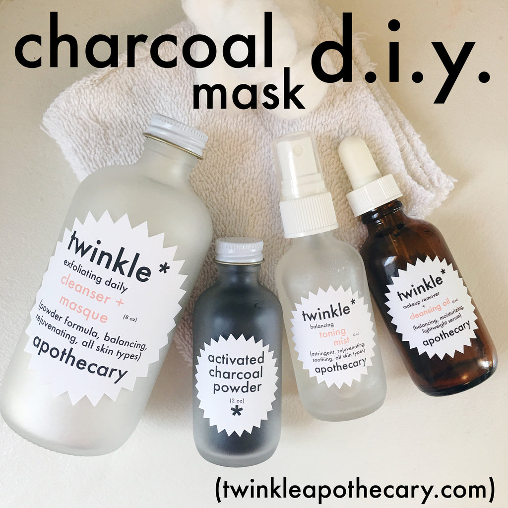 charcoal mask diy twinkle apothecary