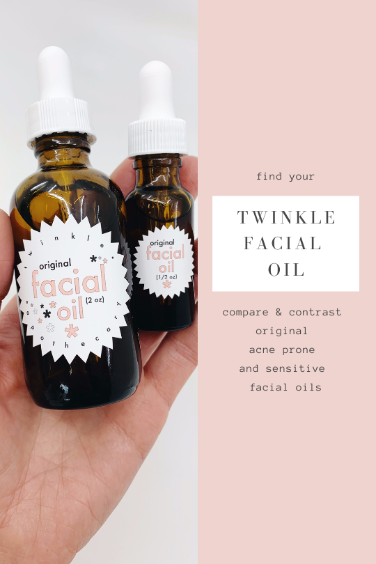 find your twinkle apothecary facial oil