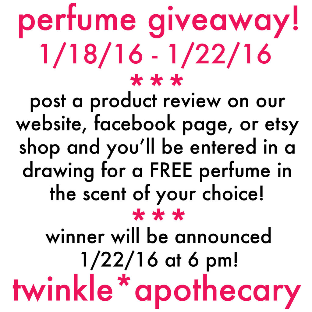 We're Giving Away a Free Perfume This Week!