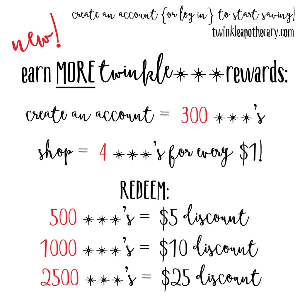New! Earn EVEN MORE Twinkle Star Rewards!