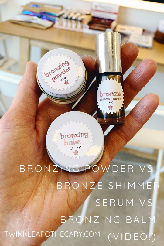 Bronzing Powder vs. Bronze Shimmer Serum vs. Bronzing Balm (Video!)