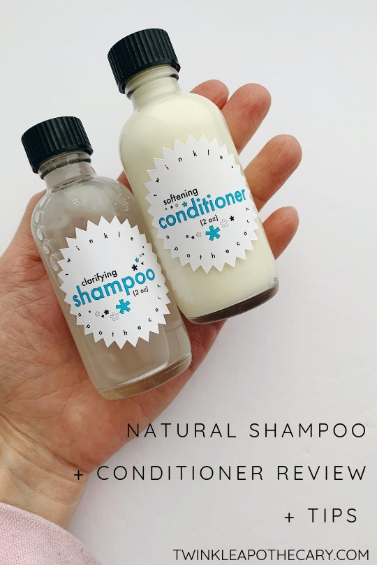 natural shampoo + conditioner review + tips