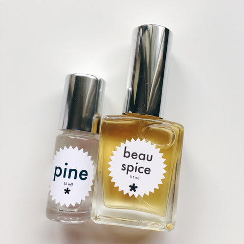 beau spice and pine perfume twinkle apothecary