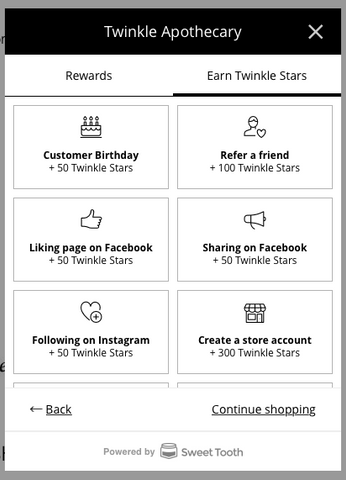 twinkle star rewards program