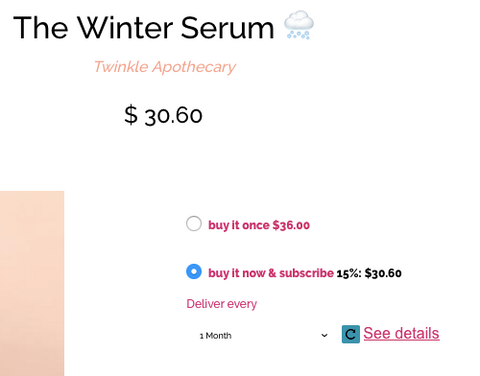 subscription option twinkle apothecary