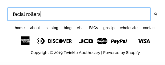 search bar twinkle apothecary