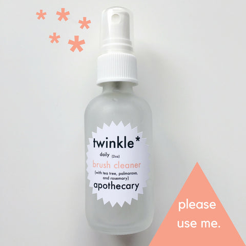 brush cleaner twinkle apothecary