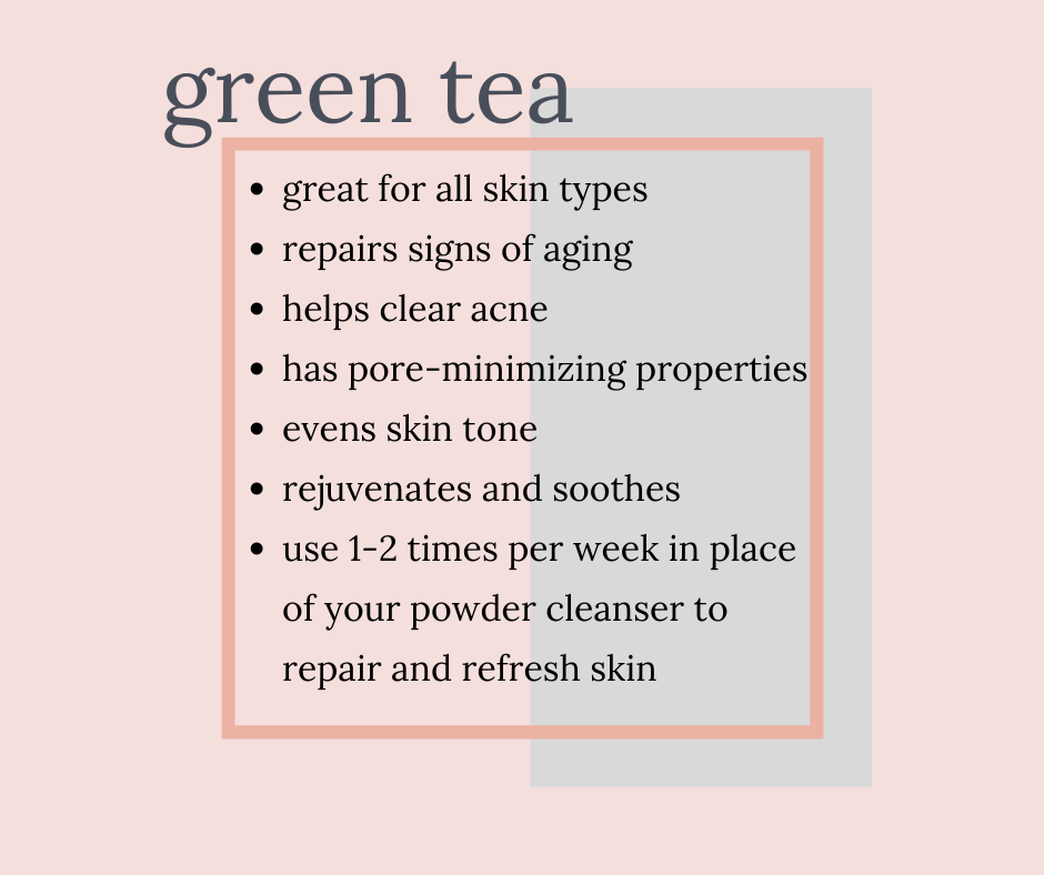 green tea + aloe face mask twinkle apothecary