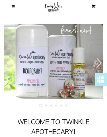 twinkle apothecary mobile home screen