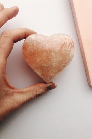 pink Himalayan salt heart crystal twinkle apothecary
