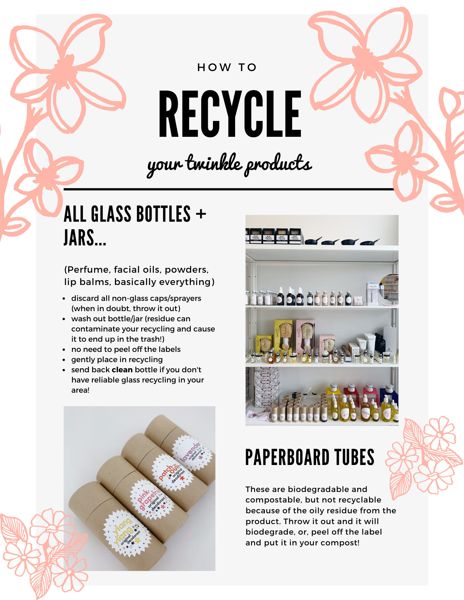 recycling guide twinkle apothecary